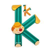 Janod - Lettre K Clown en bois