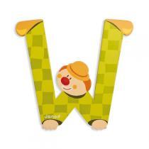 Janod - Lettre W Clown en bois