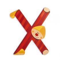 Janod - Lettre X Clown en bois
