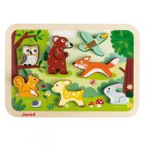Janod - Puzzle en bois Chunky Forêt