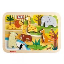 Janod - Puzzle en bois Chunky Zoo