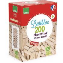 Vilac - Jeu construction bois Petit bâtisseur 200 pièces - Dès 3 ans
