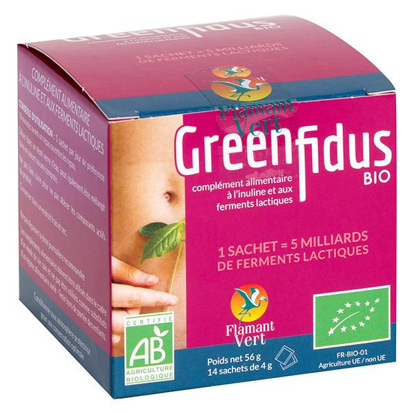 Flamant Vert - Ferments lactiques Greenfidus Bio x 14 sachets