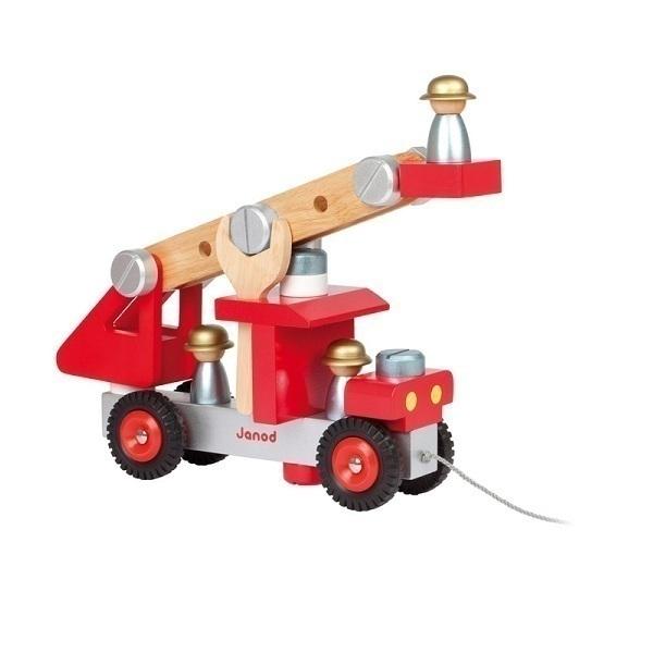 Camion de pompier en bois janod acheter sur for Cuisine en bois janod