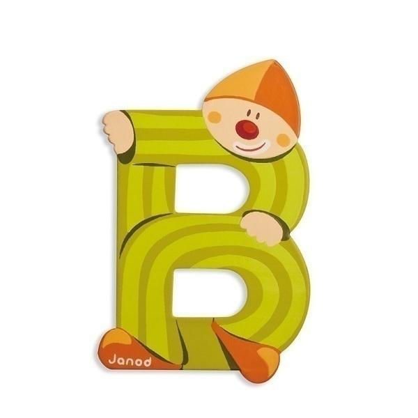 Janod - Lettre B Clown en bois