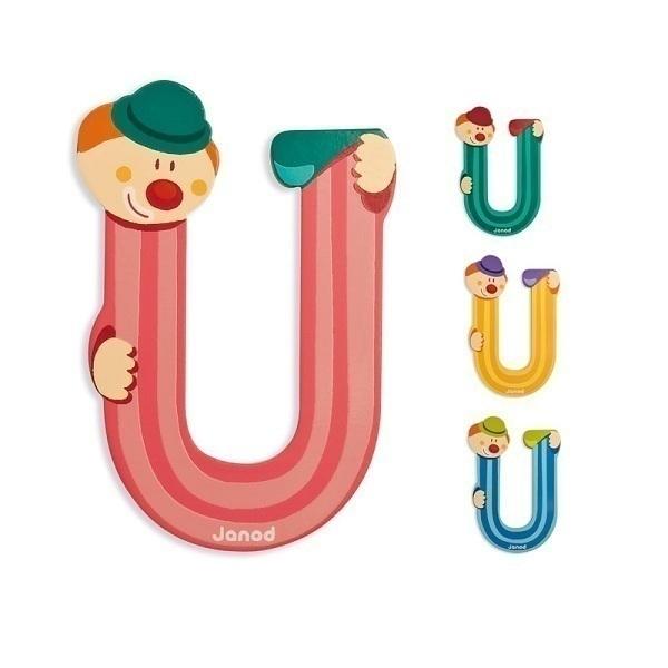 Janod - Lettre U Clown en bois
