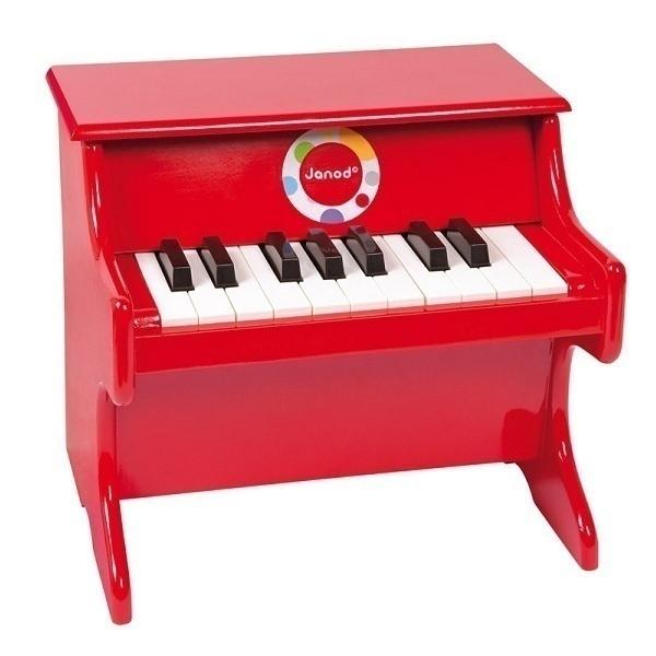 piano en bois confetti rouge janod acheter sur. Black Bedroom Furniture Sets. Home Design Ideas
