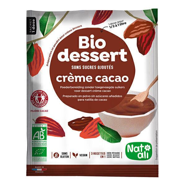 Natali - Préparation Bio dessert crème cacao 45g