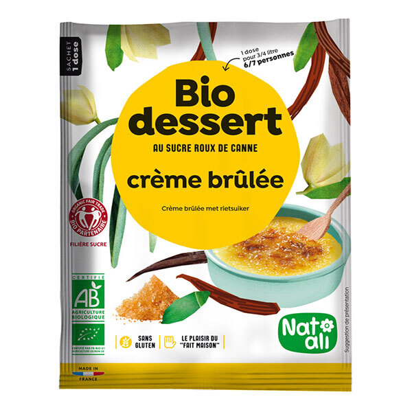 Natali - Préparation Bio dessert Crème Brûlée 750mL 80g