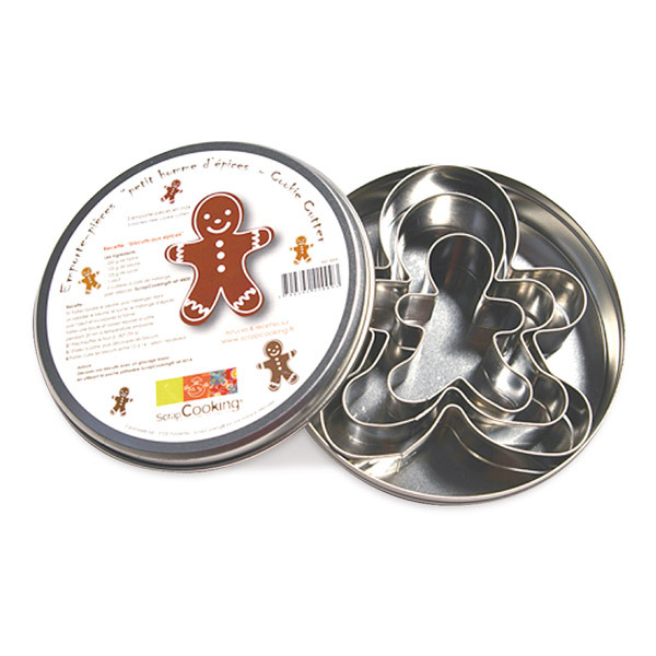 ScrapCooking - 3 Gingerbread men cutters