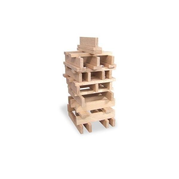 Jeu construction bois petit b tisseur 100pc vilac acheter sur for Jeu construction bois