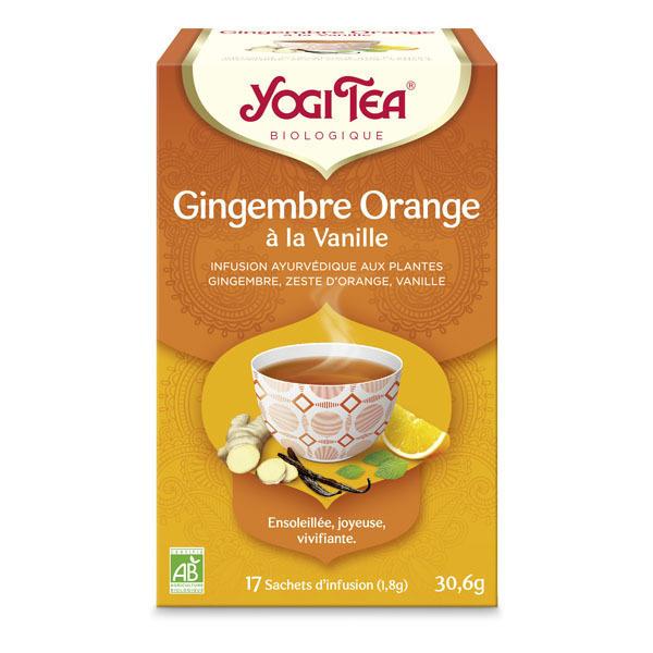 Yogi Tea - Infusions Gingembre Orange Vanille 17 sachets