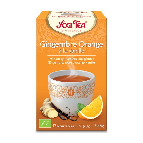 Yogi Tea - Infusions Gingembre Orange Vanille 17 sachets