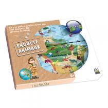 Caly - Globe gonflable 50 cm Enquete animaux - Dès 7 ans