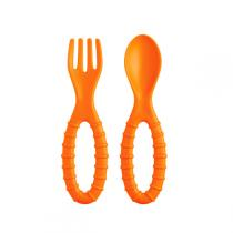 MastradBaby - Lil' Spoon & Fork - Orange