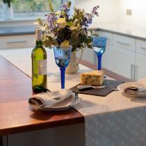 Ochre & Ocre - Tischläufer blau, 40x240cm