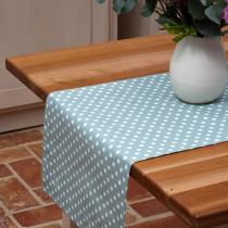 Ochre & Ocre - Tischläufer grün mit weißen Punkten, 40x240cm