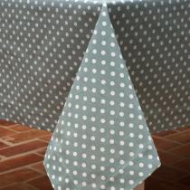 Ochre & Ocre - Tischdecke grün mit weißen Punkten, 145x240cm