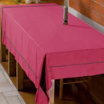 Quel bio t'a piqué ? - große Tischdecke, 230x174, rosa grau