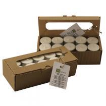 Quésack - Boîte de 30 bougies chauffe-plat en stéarine végétale