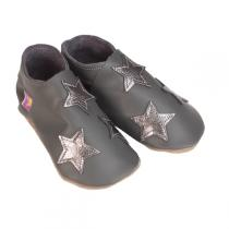 Starchild - Pantofole in cuoio Starchild Silver Stars on Grey