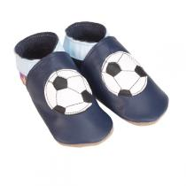 Starchild - Chaussons Cuir Football Bleu marine