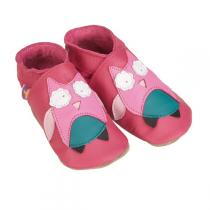 Starchild - Fushia Hootie Leather baby shoes