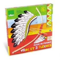 Vilac - Flatpacked Bow and Three Arrows in Target Box.