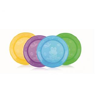 Nuby - 4-Pack Fun Feeding Plates