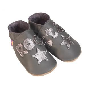 Starchild - Chaussons Cuir Rock Star Gris