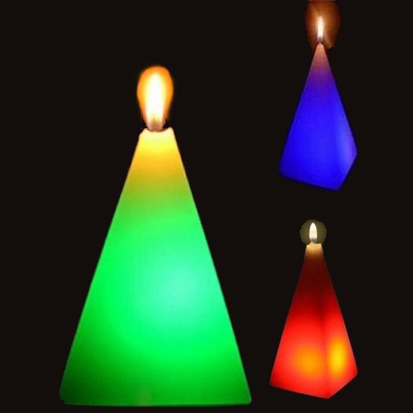 Zen' Light - Bougie cire & LED Pyramide