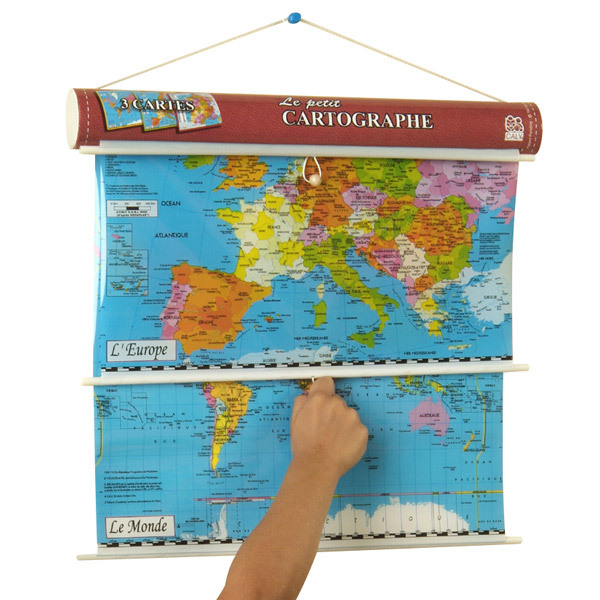 Caly - Petit Cartographe - 3 cartes à dérouler - Dès 7 ans