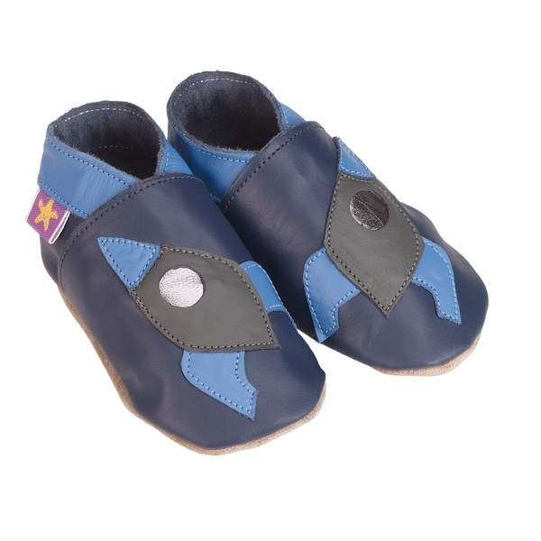 Starchild - Navy Rocket Leather baby shoe