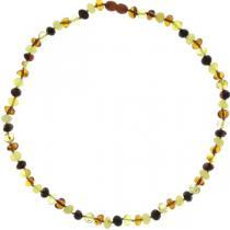 BalticWay - Erwachsenen-Bernsteinperlen-Halskette gemischter Farben