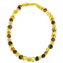 BalticWay - Collier adulte Ambre Perles rondes Mix 45cm