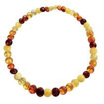 BalticWay - Erwachsenen-Bernstein-Perlen-Halskette gemischter Farben