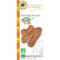Biscuiterie de Provence - Biscuits gourmets Amandes Verveine Miel BIO 65g