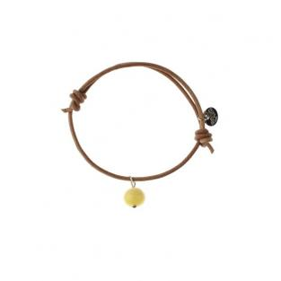 BalticWay - Adult Milky Amber & Leather Bracelet