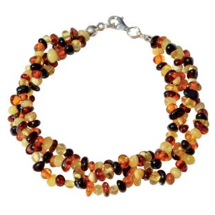 BalticWay - Adult Amber Mix Wreath Bracelet