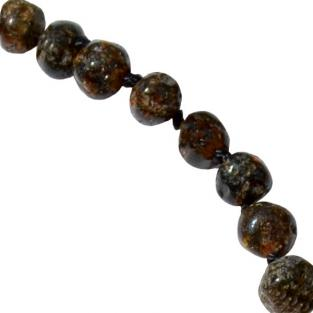 BalticWay - Adult Grey Amber Beaded Necklace