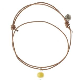 BalticWay - Adult Milky Amber & Leather Necklace