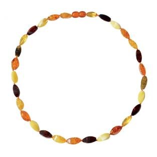 BalticWay - Adult Olive Mix Amber Beaded Necklace