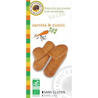 Biscuiterie de Provence - Almond Carrot and Cumin Biscuits 65g