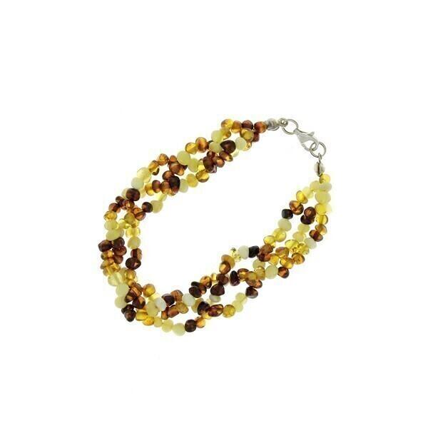 BalticWay - Adult Amber Mix Wreath Bracelet
