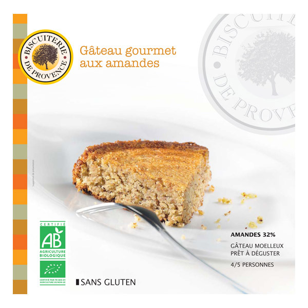Biscuiterie de Provence - Nature, organic almond cake 225g