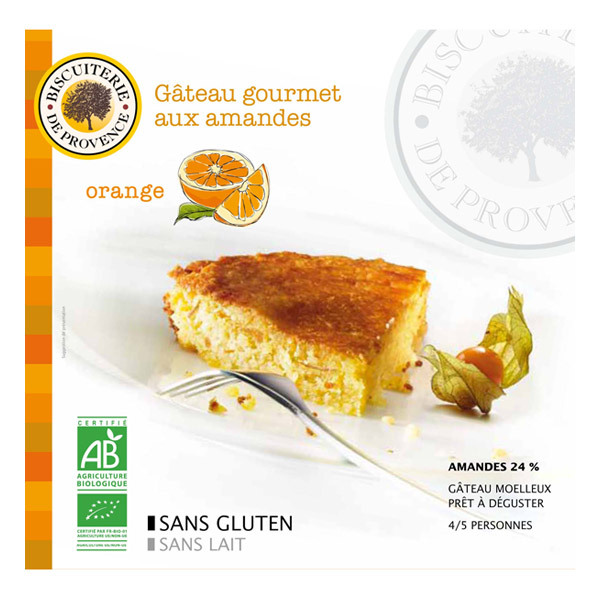 Biscuiterie de Provence - Organic almond & orange cake 225g