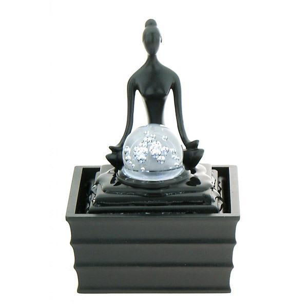 Resin Yoga Raja Fountain Indoor fountains Greenweez | Shop ...