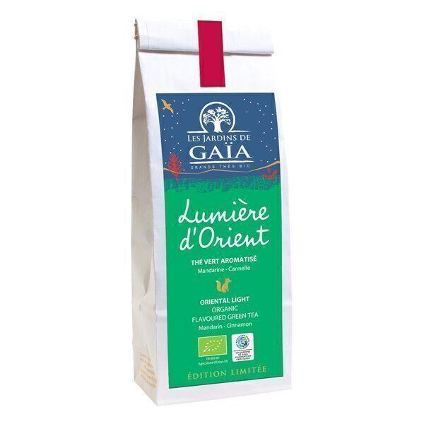 Les jardins de Gaïa - Thé vert Lumière d'Orient Mandarine cannelle 100g