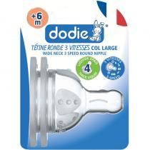 Dodie - Tetines Evolution+ Debit 4 Liquide epais