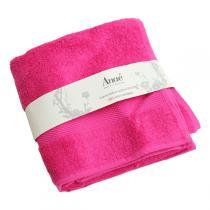 Anaé - Handtuch aus Bio-Baumwolle in himbeerrot